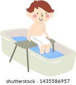 illustration of a kid boy using ...   Shutterstock .eps vector #1435586957