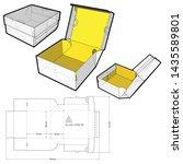 postal delivery box   internal... | Shutterstock .eps vector #1435589801