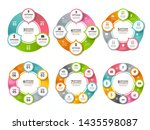 various radial shapes and... | Shutterstock . vector #1435598087