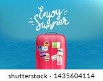 enjoy summer travel concept... | Shutterstock .eps vector #1435604114