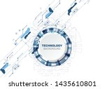 abstract futuristic technology... | Shutterstock .eps vector #1435610801