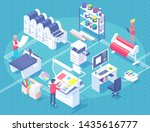 printing house polygraphy... | Shutterstock . vector #1435616777