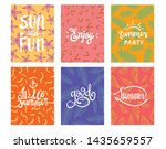 set of summer theme typography...   Shutterstock .eps vector #1435659557