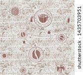 vector seamless pattern on the... | Shutterstock .eps vector #1435703951