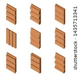 different siding profiles in... | Shutterstock .eps vector #1435713341