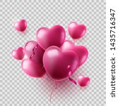 heart shaped air balloons on... | Shutterstock .eps vector #1435716347