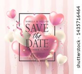 """""""save the date"""" wedding...   Shutterstock .eps vector #1435716464"""