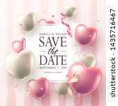 """""""save the date"""" wedding...   Shutterstock .eps vector #1435716467"""