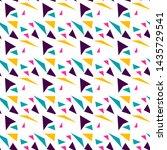 multicolor geometric simple...   Shutterstock . vector #1435729541