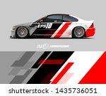 car racing decal design concept....   Shutterstock .eps vector #1435736051