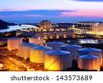 oil tank at night | Shutterstock . vector #143573689