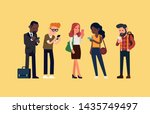 diverse group of people... | Shutterstock .eps vector #1435749497