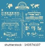 public transportation info... | Shutterstock .eps vector #143576107