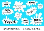 milk splash. milk  yogurt or...   Shutterstock .eps vector #1435765751