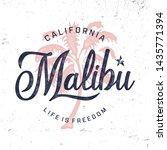 """california. malibu"". vintage... | Shutterstock .eps vector #1435771394"