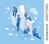 isometric thumbs up like social ...   Shutterstock .eps vector #1435771451