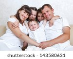 happy family spends together... | Shutterstock . vector #143580631