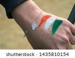 Hand Of Caucasian Traveller...