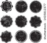 grunge circles post stamps...   Shutterstock .eps vector #1435812377