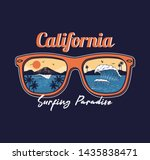summer sunglasses reflective... | Shutterstock .eps vector #1435838471