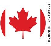 vector   canada flag button on... | Shutterstock .eps vector #1435858991
