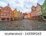 landshut  old german gothic... | Shutterstock . vector #143589265