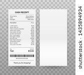 receipts vector illustration of ... | Shutterstock .eps vector #1435894934