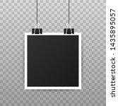 photo frame mockup design.... | Shutterstock .eps vector #1435895057