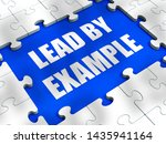 lead by example idiom means to... | Shutterstock . vector #1435941164