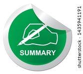 executive summary badge icon... | Shutterstock . vector #1435941191