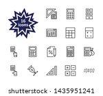 set of calculation vector line... | Shutterstock .eps vector #1435951241