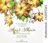 wedding invitation card | Shutterstock .eps vector #143595361