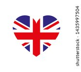 united kingdom heart flag... | Shutterstock .eps vector #1435997504