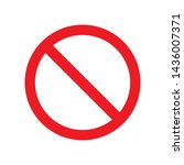 not allowed icon   vector... | Shutterstock .eps vector #1436007371