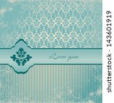 beautiful invitation card with...   Shutterstock .eps vector #143601919