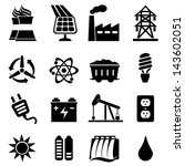 energy icon set | Shutterstock .eps vector #143602051
