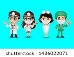 profession   doctor with... | Shutterstock .eps vector #1436022071