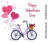card for valentine's day with... | Shutterstock .eps vector #143602261