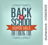 back to school typographic... | Shutterstock .eps vector #143603035
