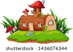 an isolated fantasy house...   Shutterstock .eps vector #1436076344