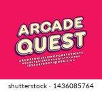 vector vintage style banner... | Shutterstock .eps vector #1436085764