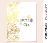 vintage delicate greeting... | Shutterstock . vector #1436100344