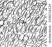 hand drawn typeface. painted... | Shutterstock .eps vector #1436116124