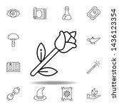 magic rose outline icon....