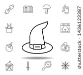 magic witch hat outline icon....