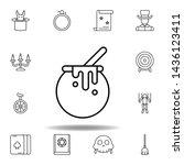 magic cauldron outline icon....