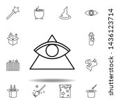 magic triangle and eye outline...