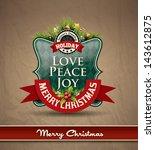 christmas premium labels ... | Shutterstock .eps vector #143612875