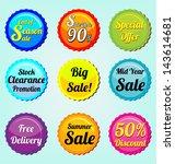 set of label   Shutterstock .eps vector #143614681