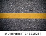 Yellow Line On The Road Texture